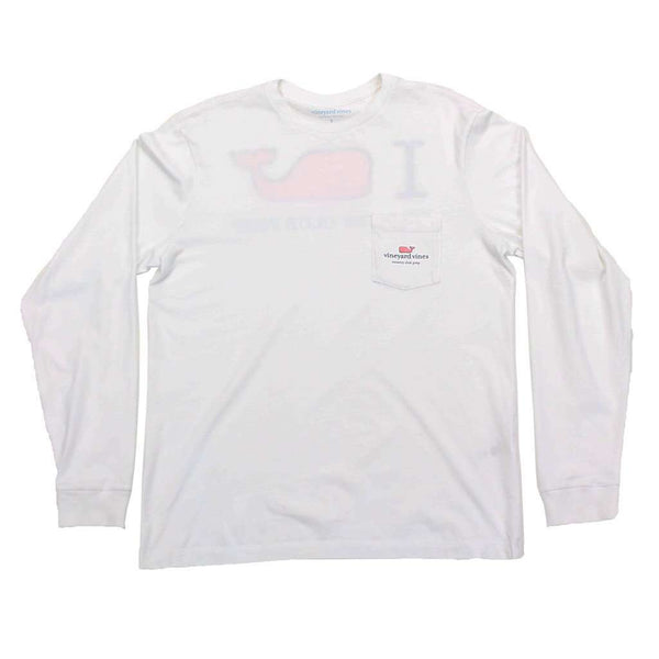 I Whale Country Club Prep Long Sleeve Tee in White by Vineyard Vines