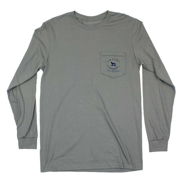 "Men's Tee Shirts - ""In The Blind"" Long Sleeve Tee In Hurricane Grey By Over Under Clothing"