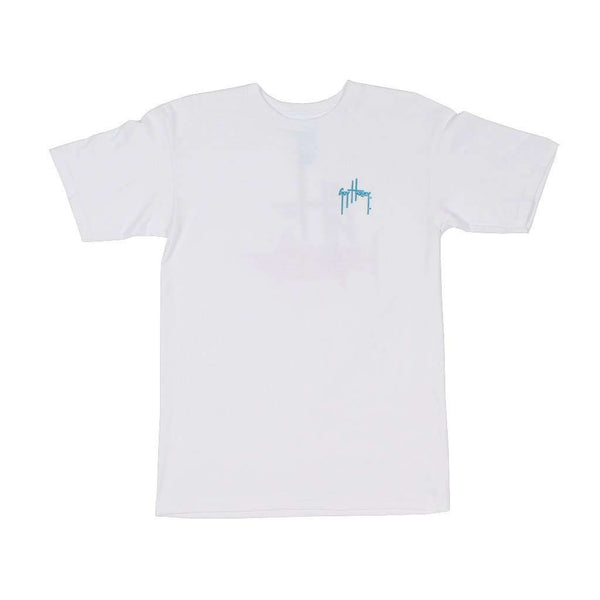 Initial Logo Tee in White by Guy Harvey - FINAL SALE