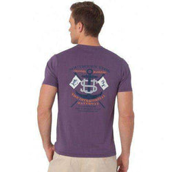Men's Tee Shirts - Intracoastal Waterway Tee In High Sea Purple By Southern Tide