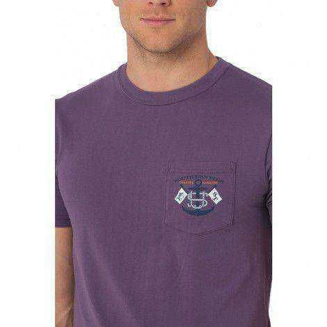 Intracoastal Waterway Tee in High Sea Purple by Southern Tide