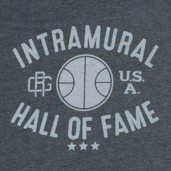 Intramural Hall of Fame Vintage Tee in Charcoal by Rowdy Gentleman - FINAL SALE