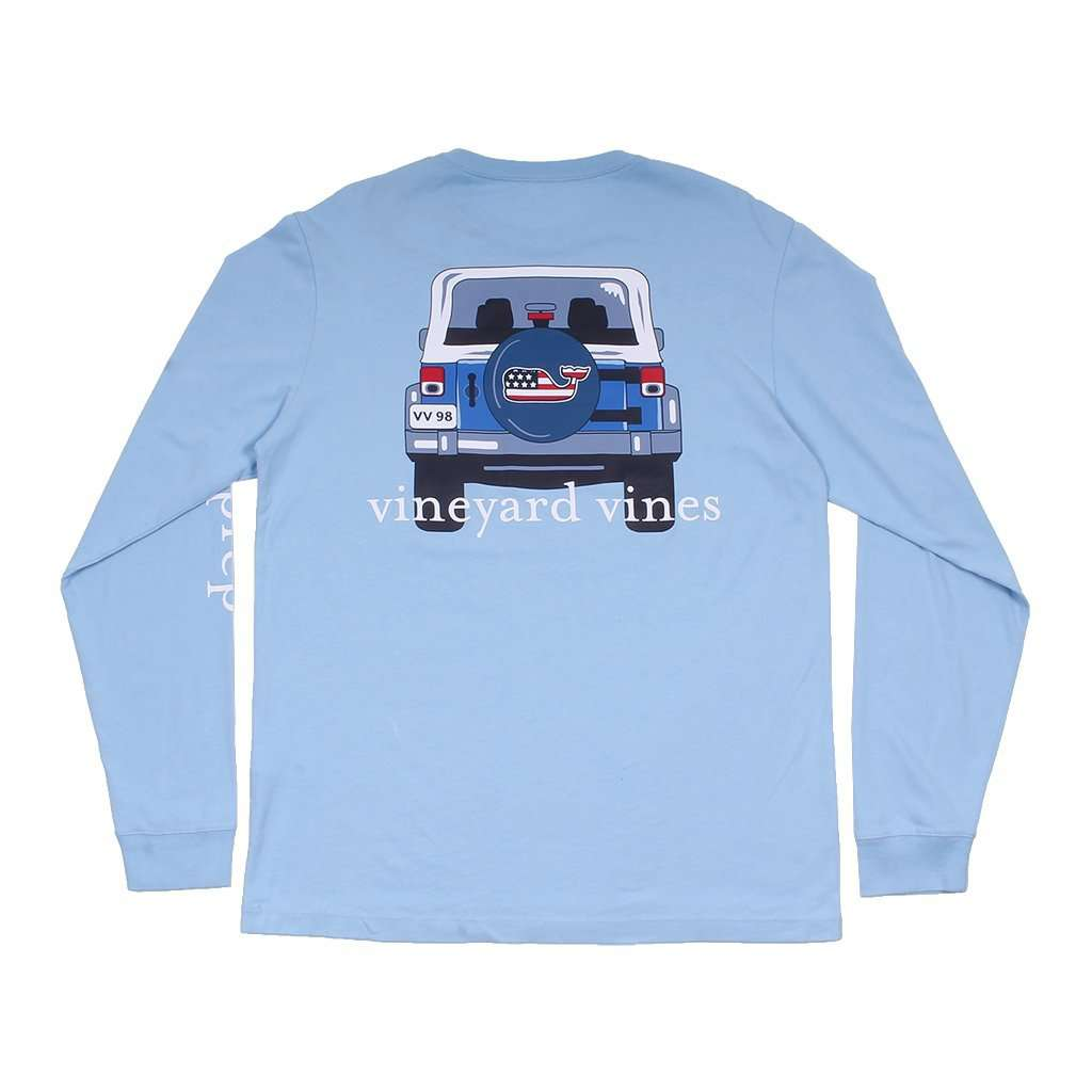 Vineyard Vines Jeep Back C C Prep Long Sleeve Tee Shirt