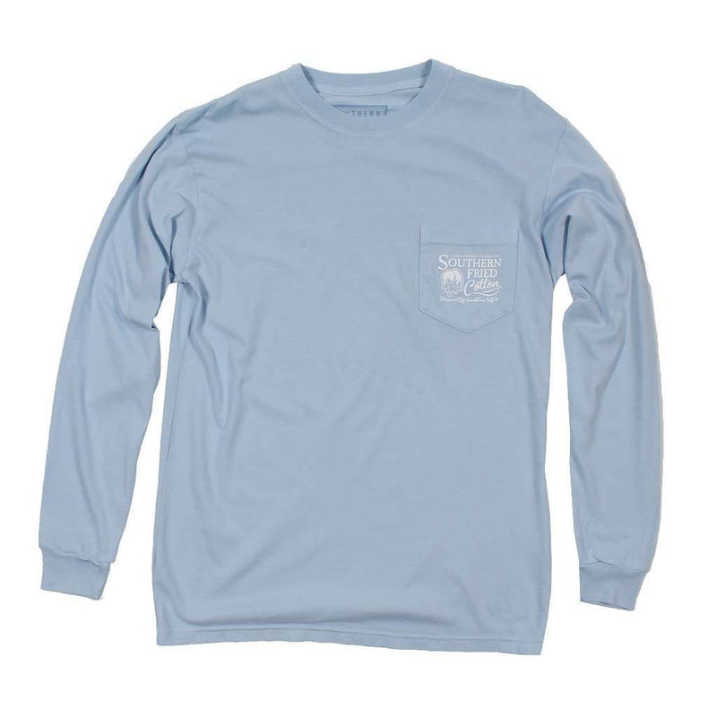 Men's Tee Shirts - Jeepin' On The Coast Long Sleeve Tee In Southern Sky By Southern Fried Cotton - FINAL SALE