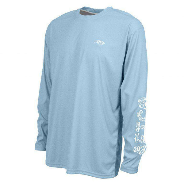 Jigfish Performance Sun Shirt in Sky Blue by AFTCO