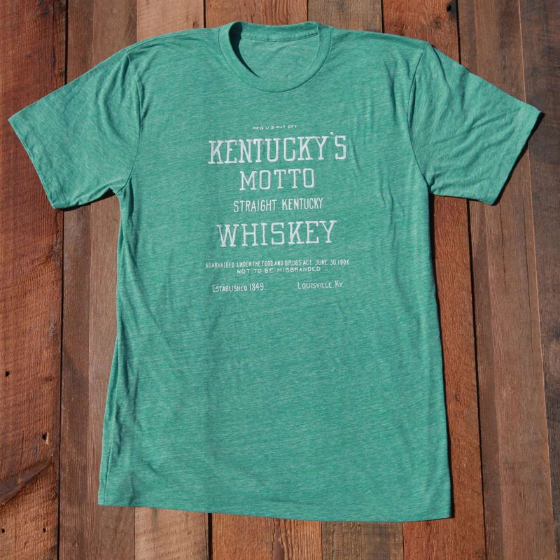Men's Tee Shirts - Kentucky's Motto Tee In Green By Pappy Van Winkle