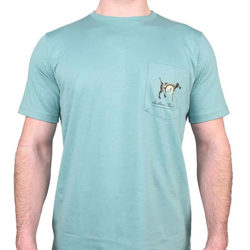 Kentucky SPC State Lines Tee in Ocean Green by Southern Point Co.