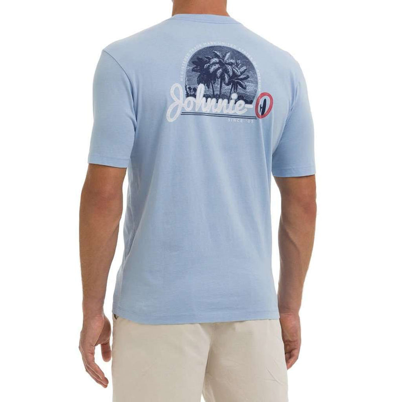 Men's Tee Shirts - Kokomo Pocket Tee Shirt In Cloud Blue By Johnnie-O