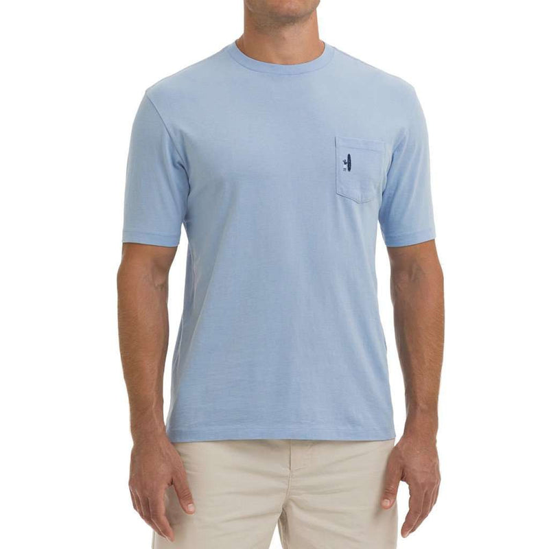 Kokomo Pocket Tee Shirt in Cloud Blue by Johnnie-O
