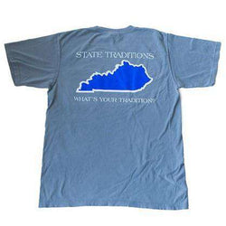 Men's Tee Shirts - KY Lexington Gameday T-Shirt In Grey By State Traditions