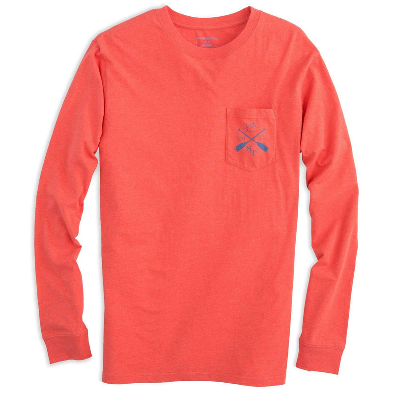 Lakeside Long Sleeve Tee Shirt in Fire by Southern Tide