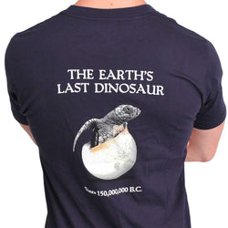 Men's Tee Shirts - Last Dinosaur Pocket Tee In Navy Blue By Loggerhead Apparel - FINAL SALE