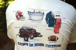 Men's Tee Shirts - Living In High Cotton: Tailgate Edition Tee By High Cotton