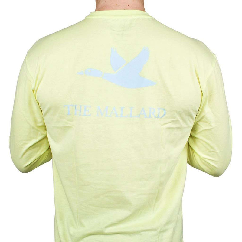 Men's Tee Shirts - Logo Mallard Shirt In Yellow By The Mallard