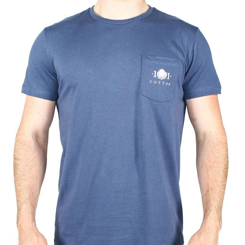 Men's Tee Shirts - Logo Pocket Tee In Navy By Cotton 101 - FINAL SALE
