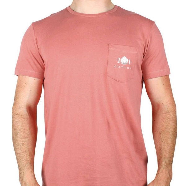Logo Pocket Tee in Rustic Red by Cotton 101 - FINAL SALE