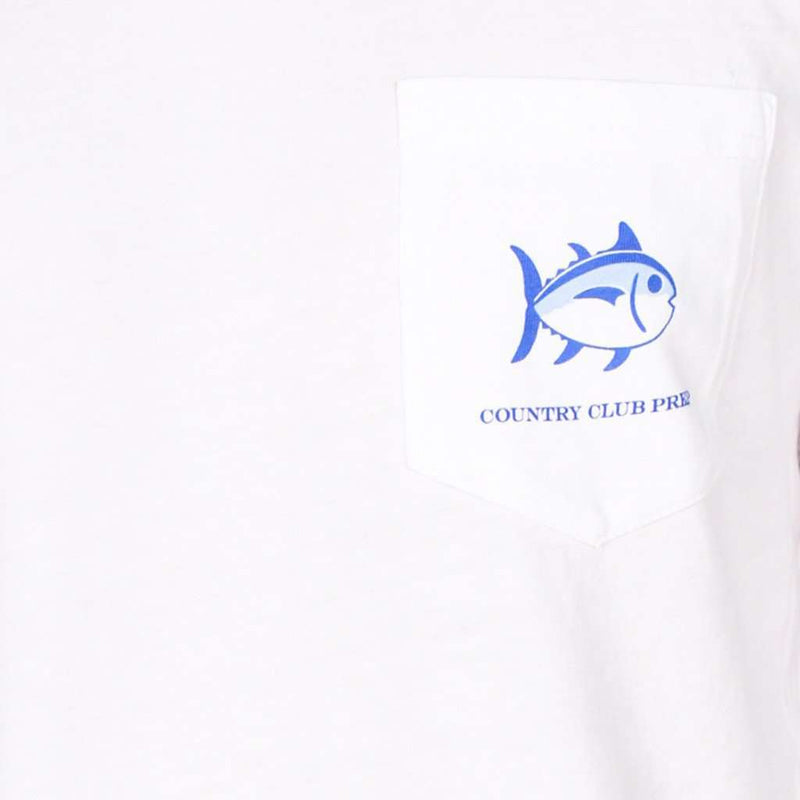 Long Sleeve CCP Nautical Flags Tee Shirt in Classic White by Southern Tide