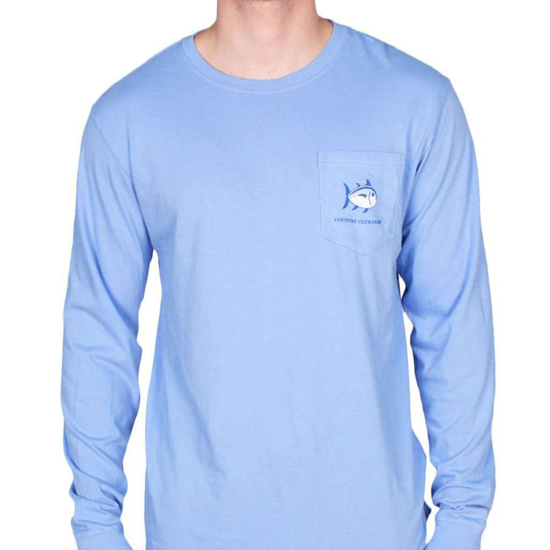 Long Sleeve CCP Nautical Flags Tee Shirt in Cool Water by Southern Tide