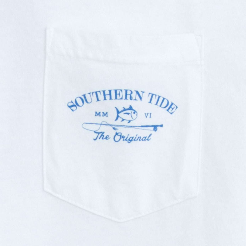 Long Sleeve Original Boathouse Tee in Classic White by Southern Tide