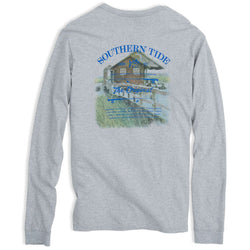 Long Sleeve Original Boathouse Tee in Heathered Grey by Southern Tide