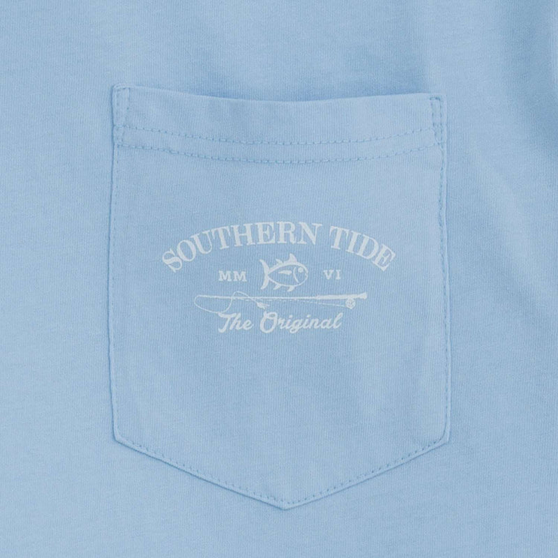 Long Sleeve Original Boathouse Tee in Sky Blue by Southern Tide
