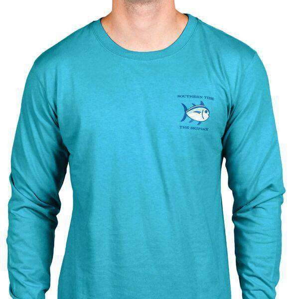 Long Sleeve Original Skipjack Tee in Cool Breeze by Southern Tide