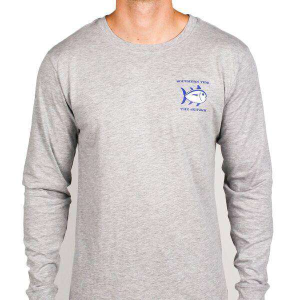 Long Sleeve Original Skipjack Tee in Grey by Southern Tide