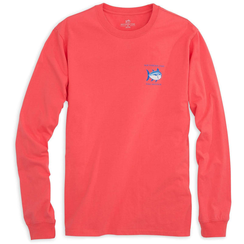 Long Sleeve Original Skipjack Tee Shirt in Sunset by Southern Tide
