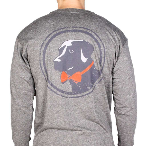 Men's Tee Shirts - Long Sleeve Original Tee In Grey By Southern Proper
