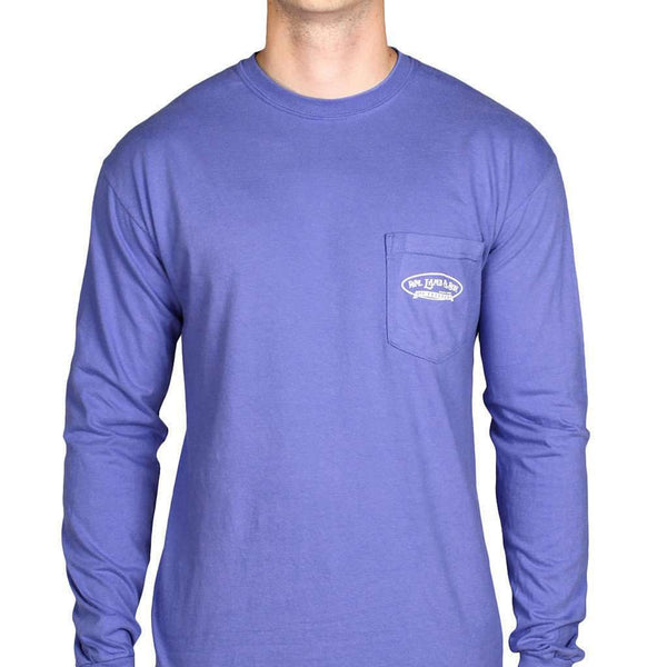 Long Sleeve Pointer Pocket Tee in Mystic Blue by WM Lamb & Son