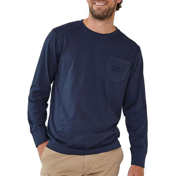 Long Sleeve Vintage Bear T in Navy by The Normal Brand - FINAL SALE