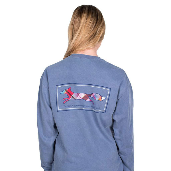 Longshanks Long Sleeve Tee Shirt in Blue Jean by Country Club Prep