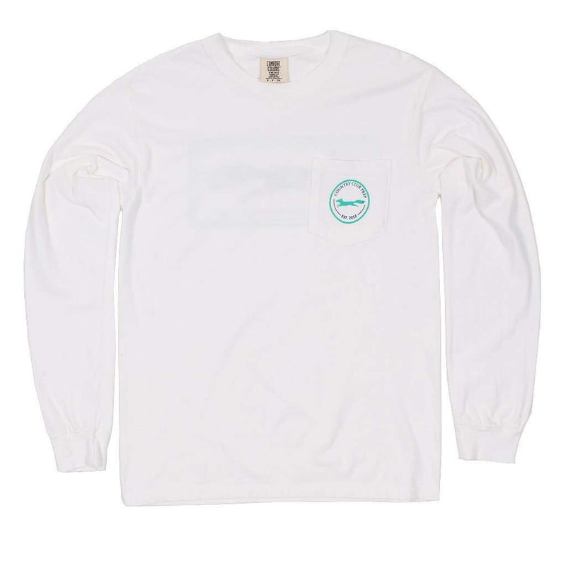 Men's Tee Shirts - Longshanks Long Sleeve Tee Shirt In White By Country Club Prep