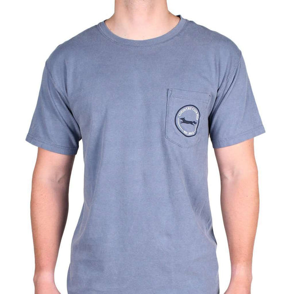 Longshanks Tee Shirt in Blue Jean by Country Club Prep