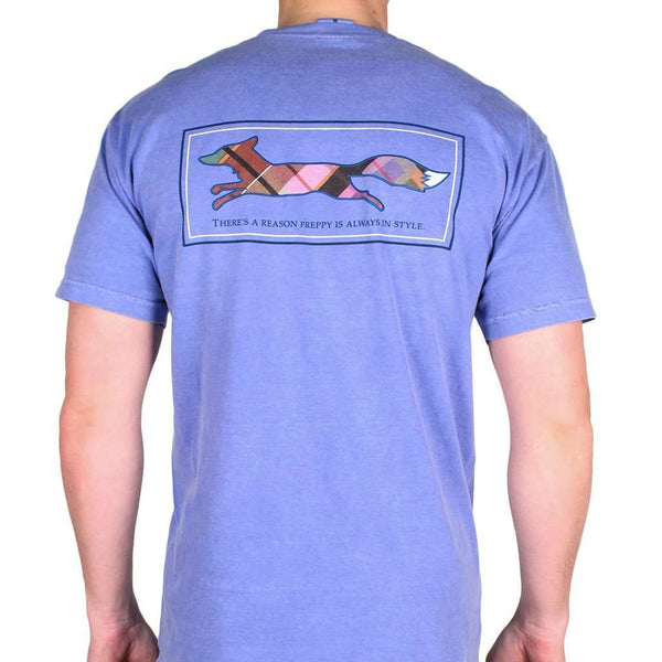 Men's Tee Shirts - Longshanks Tee Shirt In Flo Blue By Country Club Prep