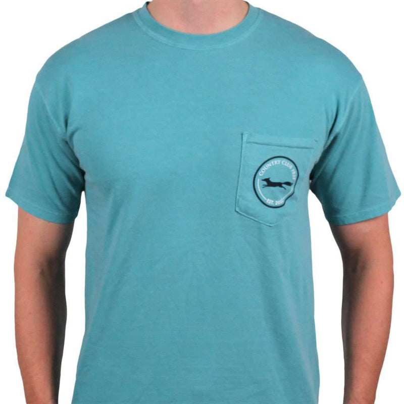 Men's Tee Shirts - Longshanks Tee Shirt In Seafoam Green By Country Club Prep