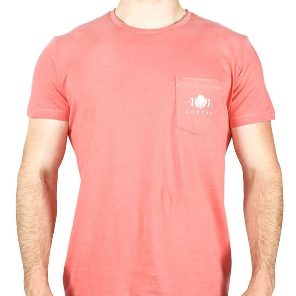 Lure Pocket Tee in Rustic Red by Cotton 101 - FINAL SALE