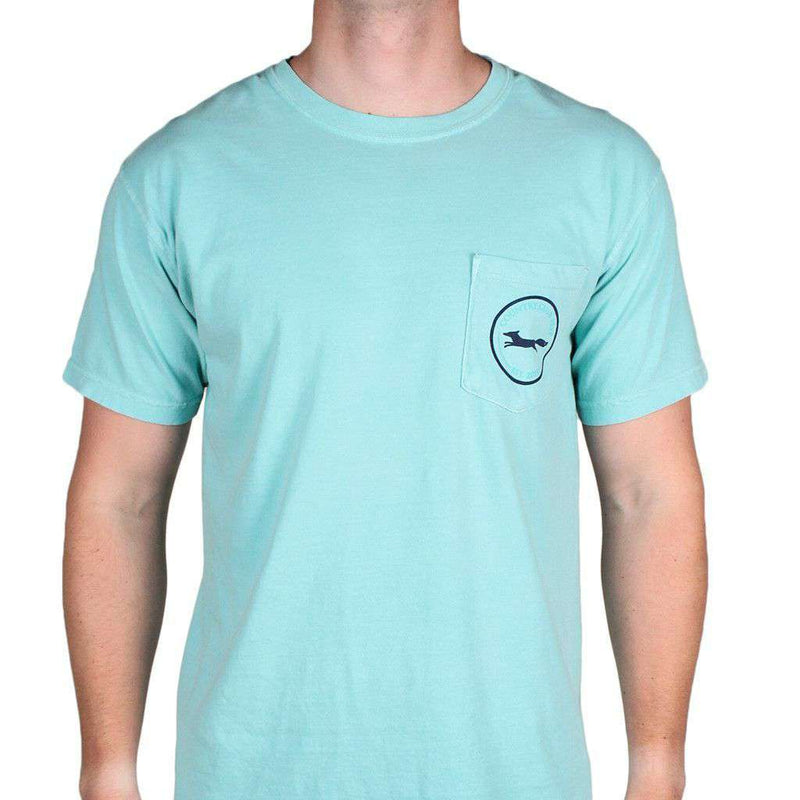 Madras Golf Cart Tee Shirt in Chalky Mint by Country Club Prep - FINAL SALE