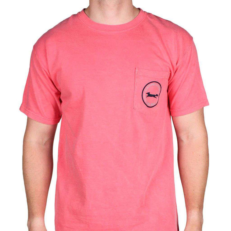 Madras Golf Cart Tee Shirt in Watermelon by Country Club Prep - FINAL SALE