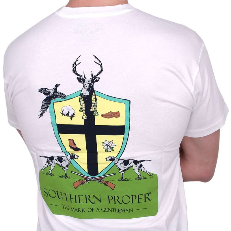 Men's Tee Shirts - Mark Of A Gentleman Tee In White By Southern Proper - FINAL SALE
