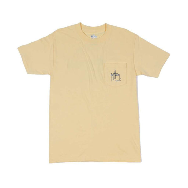 Men's Tee Shirts - Members Only Tee In Yellow By Guy Harvey
