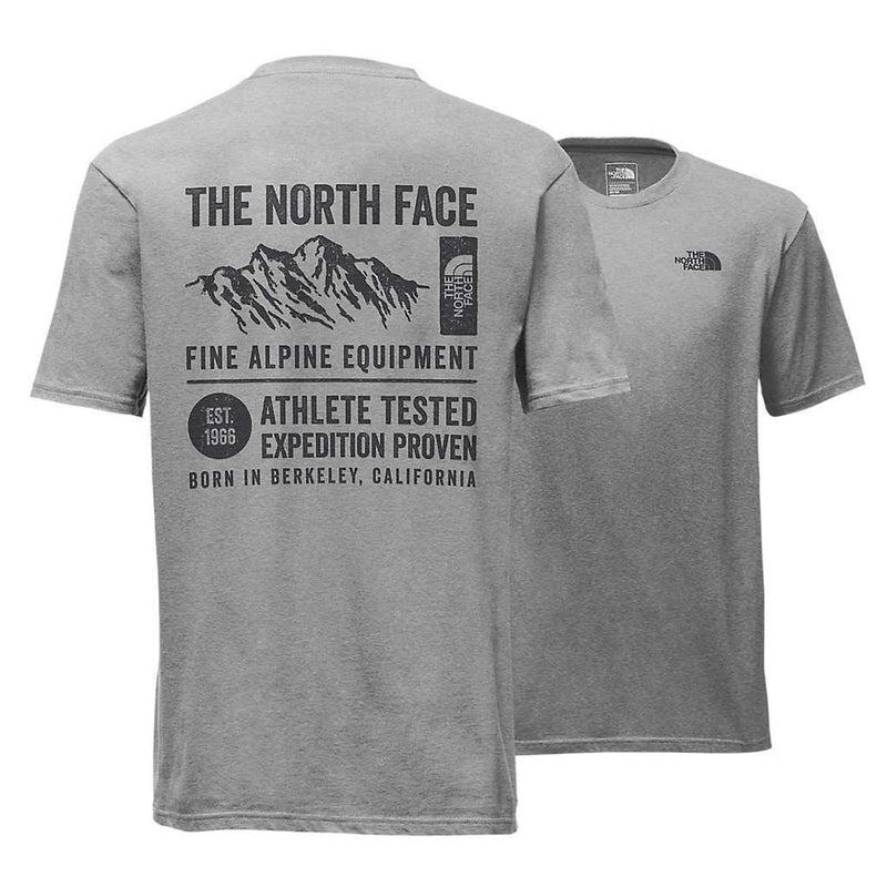 Men's Short Sleeve GPS Tri-Blend Tee in Light Grey Heather by The North Face