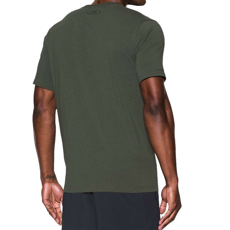 Men's UA Charged Cotton® Sportstyle Tee in Dark Green by Under Armour