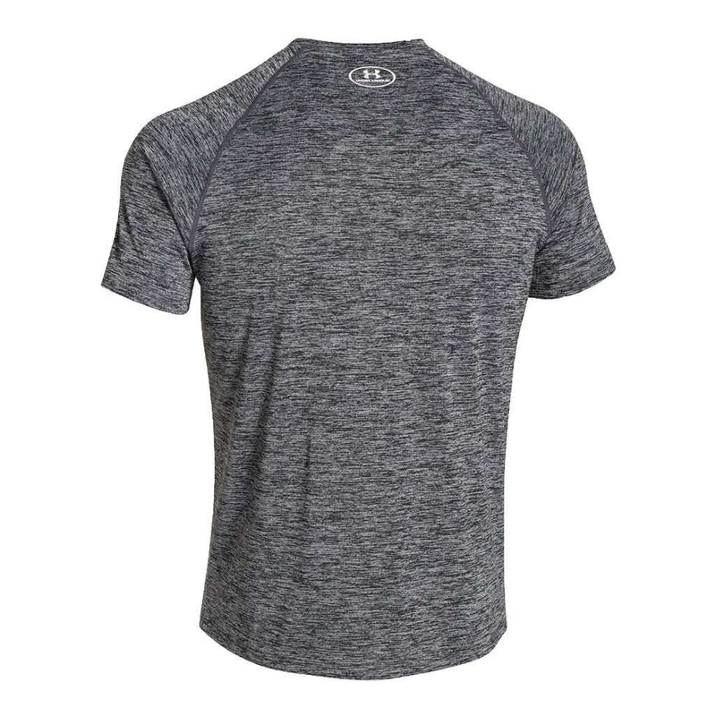 Men's UA Tech™ Short Sleeve T-Shirt in Black/White by Under Armour - FINAL SALE