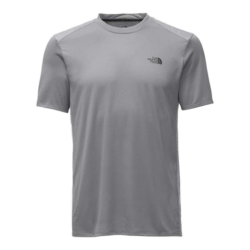 Men's Tee Shirts - Men's Versitas Short Sleeve Crew Tee In Mid Grey By The North Face - FINAL SALE