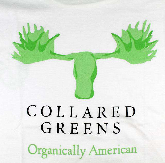 Moose Tee in White by Collared Greens