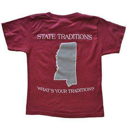 Men's Tee Shirts - MS Starkville Gameday T-Shirt In Maroon By State Traditions