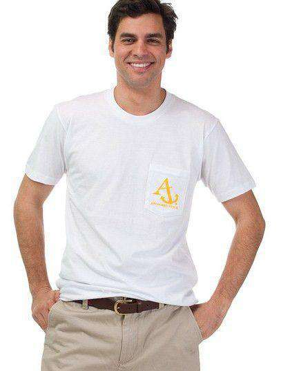 Men's Tee Shirts - Nautical Flag Tee Shirt In White By Anchored Style - FINAL SALE