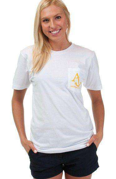 Nautical Flag Tee Shirt in White by Anchored Style - FINAL SALE