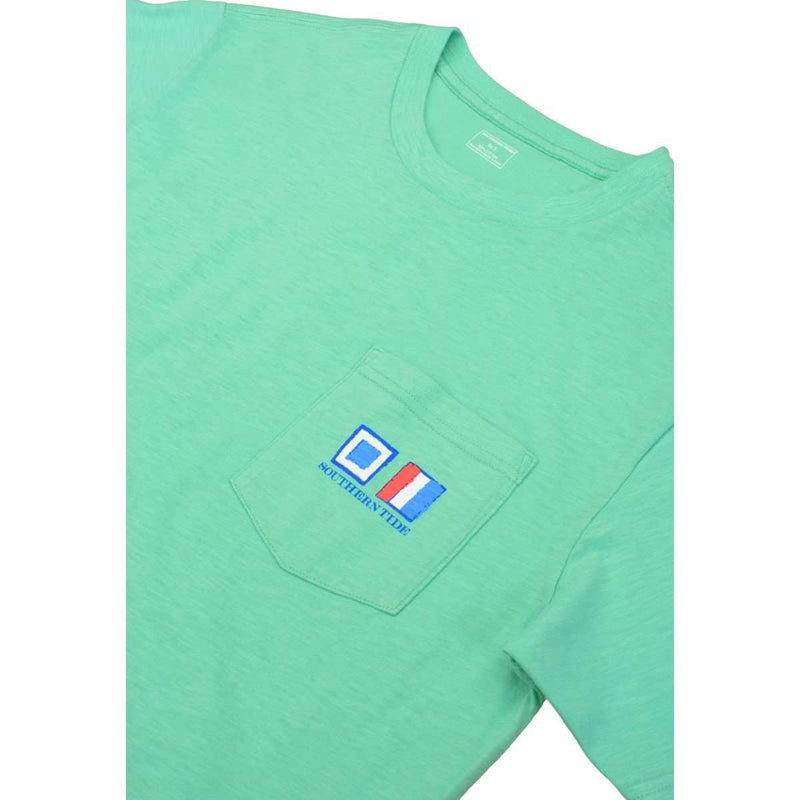 Nautical Flags Tee in Bermuda Teal by Southern Tide